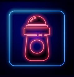 Glowing neon antiperspirant deodorant roll icon vector