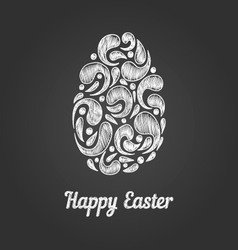 Greeting card with doodle easter egg-5 vector image vector image