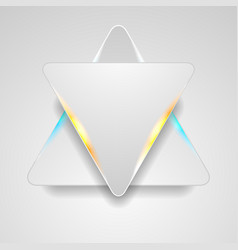 Grey triangles with blue orange light abstract vector