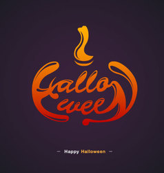 Happy Halloween Typography design vector image