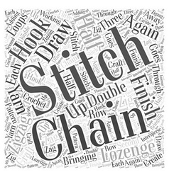 How to Zigzag Lozenge Stitch in Craft Word Cloud vector