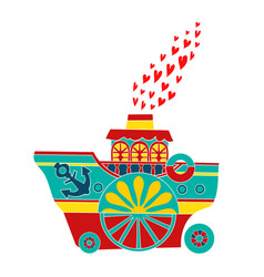 Icon colorful boats vector