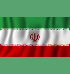 iran realistic waving flag national country vector image