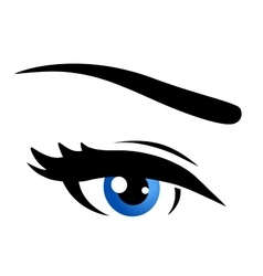 isolated blue eye vector image