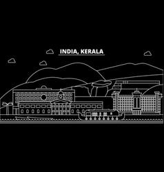 Kerala silhouette skyline india - kerala vector