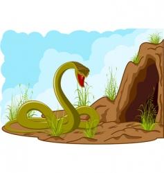 landscape with snake vector image
