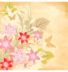 lily old background vector image