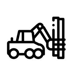 Logging machine icon outline vector