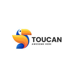 Logo toucan gradient colorful style vector