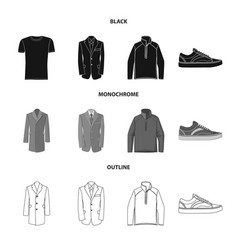 Man and clothing icon vector