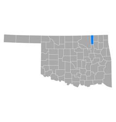 map washington in oklahoma vector image
