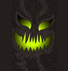 mask halloween vector image