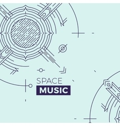 Modern thin line music cover Outline vector