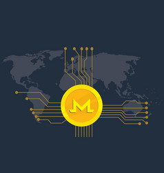 monero cryptocurrency brand icon option with vector image