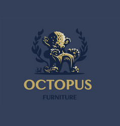 octopus in form a chair vector image
