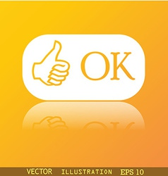 OK icon symbol Flat modern web design with vector