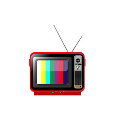 old color tv on a white isolated background vector image
