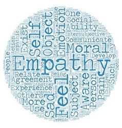 On Empathy text background wordcloud concept vector