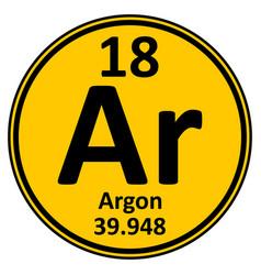 Periodic table element argon icon vector