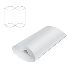 Pillow folding box A vector image