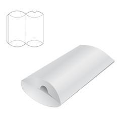 Pillow folding box vector