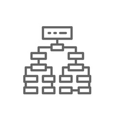 Program algorithm flowchart plan workflow vector