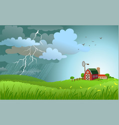 rain is coming vector image