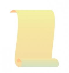 realistic roll for manuscript vector image