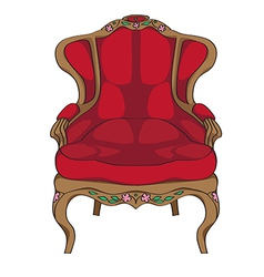 rococo armchair vector image vector image