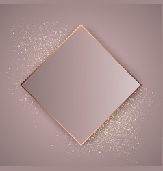rose gold glitter background vector image
