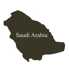 saudi arabia map on white background vector image