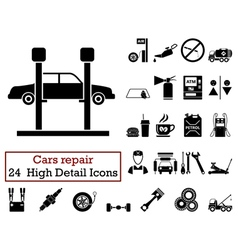 Set of 24 Car repair Icons vector