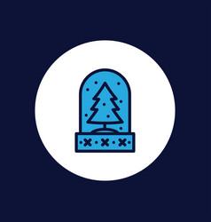 snow globe icon sign symbol vector image