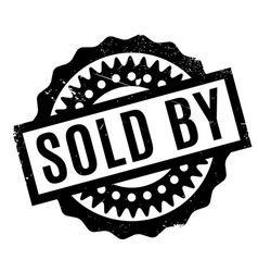 Sold by rubber stamp vector