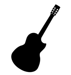 spanish cutaway acoustic guitar vector image