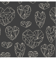 Stone heart seamless pattern vector