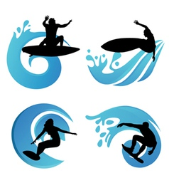 Surfing symbols vector