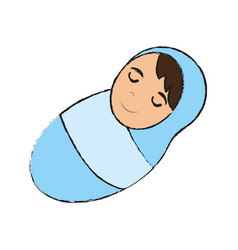 Swaddled baby icon image vector