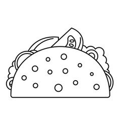 Taco food icon outline style vector