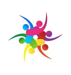 Teamwork 6 swooshes logo vector image