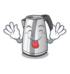 Tongue out mascot cartoon household kitchen vector