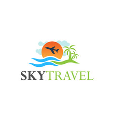 tour and travel logo design inspiration vector image