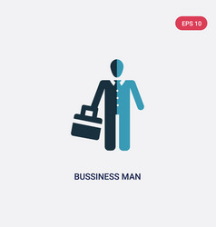 Two color bussiness man icon from people concept vector