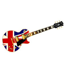 Union jack flag guitar vector