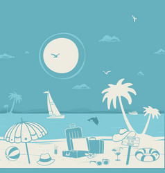 vacation theme and the beach vector image