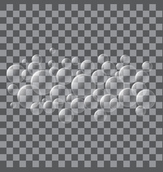 water bubble foam icon realistic style vector image