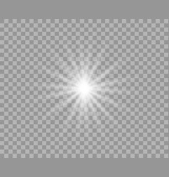 white luminous transparent light vector image