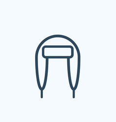 winter hat with ear flaps icon vector image