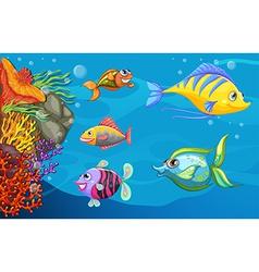 A school of fish under the sea vector image