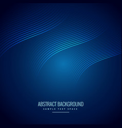 abstract blue background with wave lines vector image vector image